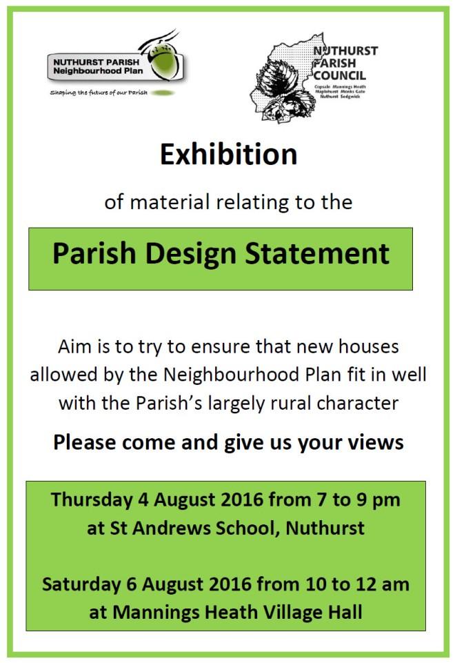 Design statement poster